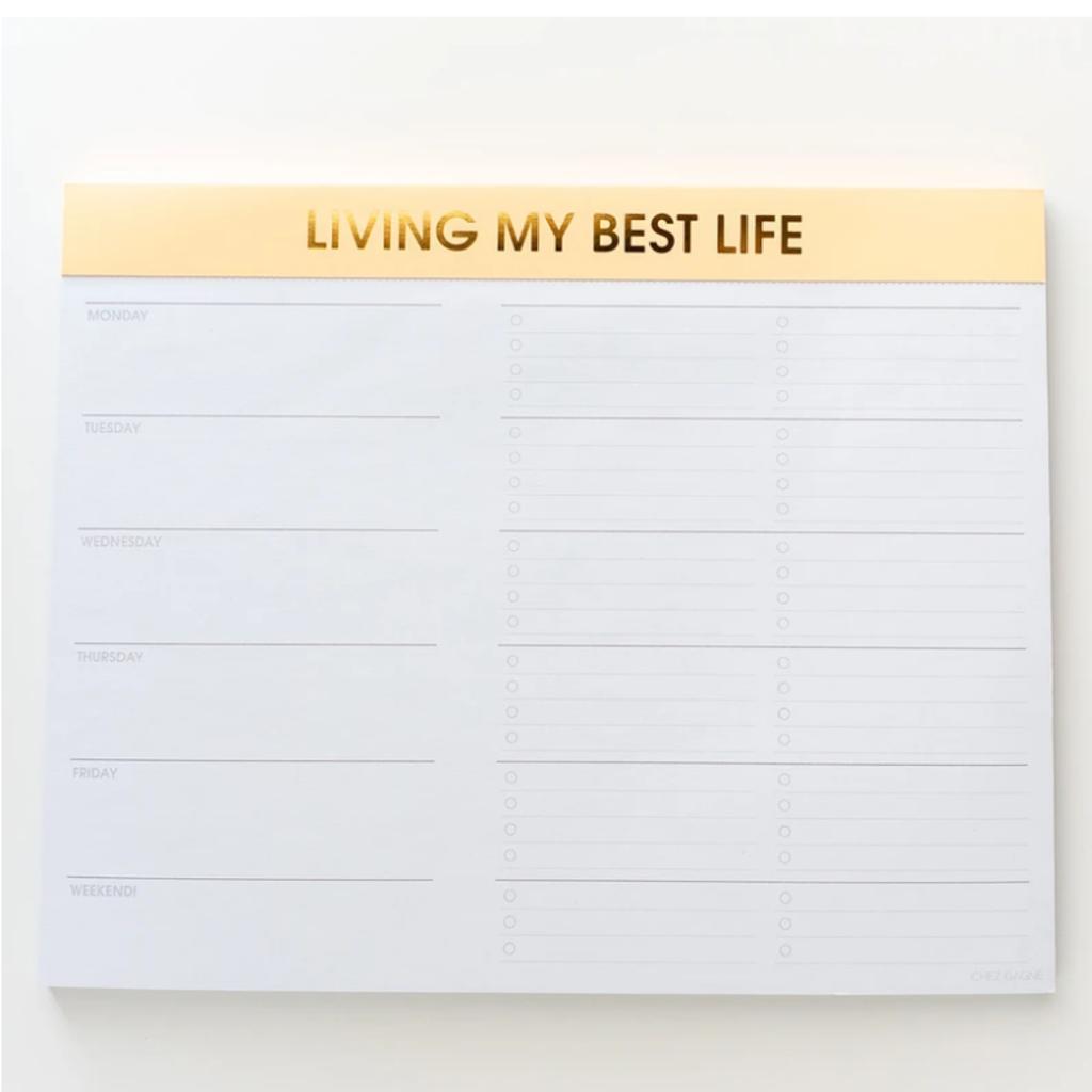 WNP001 Living My Best Life weekly planner