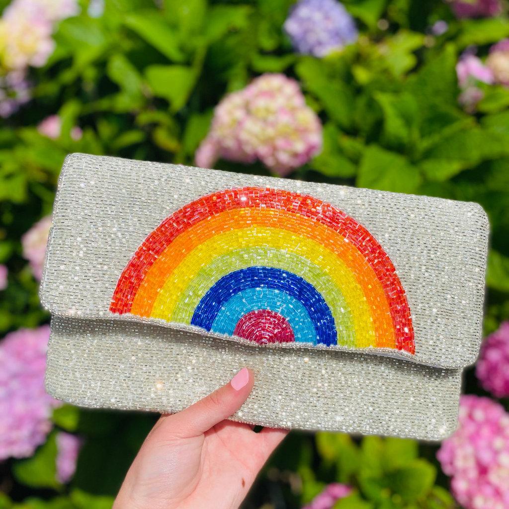 Silver Rainbow clutch