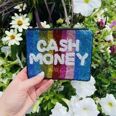 Cash Money Beaded pouch