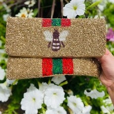 exw-6030/G Gold Bee Clutch