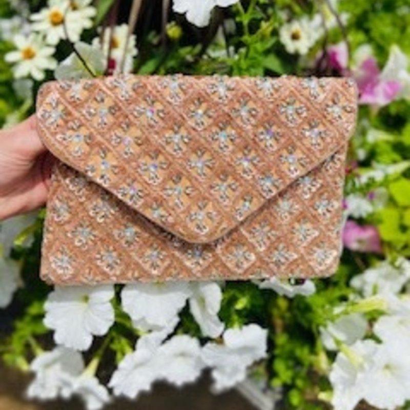 lac-ss-450 Rose blush beaded bag