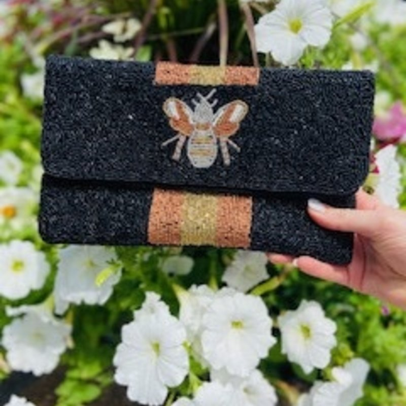 lac-ss-214 Black/Gold Bee bag