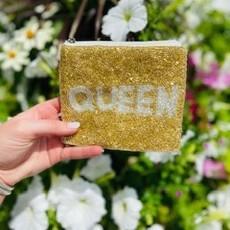 Queen Beaded pouch