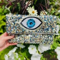 lac-ss-127 Sequin evil eye