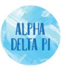 Alpha Delta Pi abstract Button
