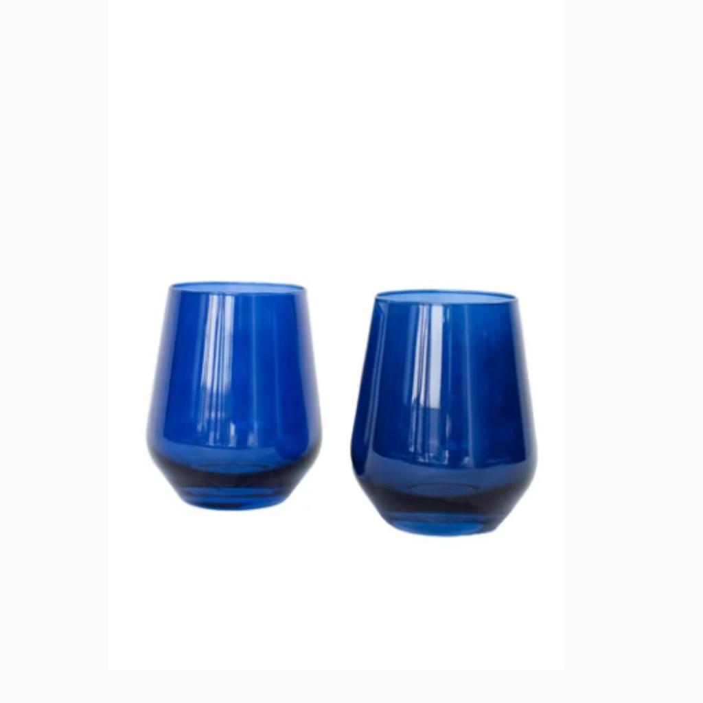 Midnight Blue Stemless Wine Glass