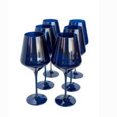 Midnight Blue Stemmed Wine Glass