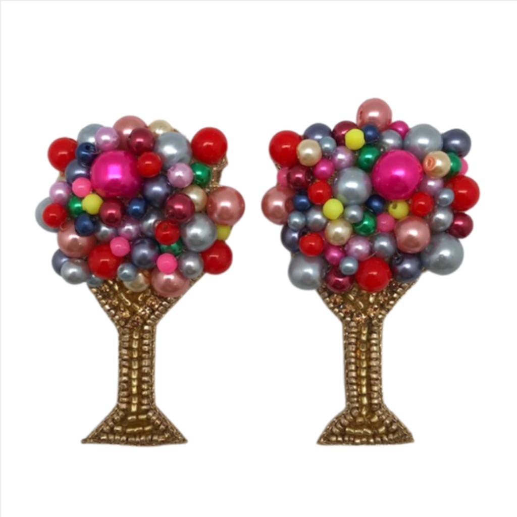 Bright Bubbly Champagne Earrings