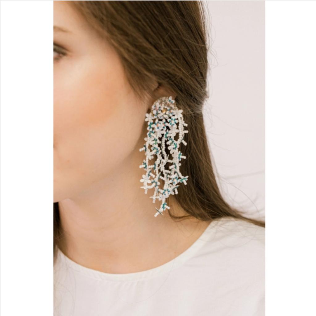 Cascading Flower Drop Earrings