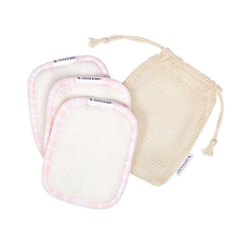 Reusable Makeup Removers - Peppermint Pink