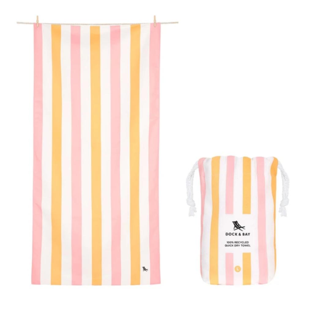 Beach Towel - Summer - Peach Sorbet - Large