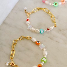 Half chain charm bracelet - twisted chain