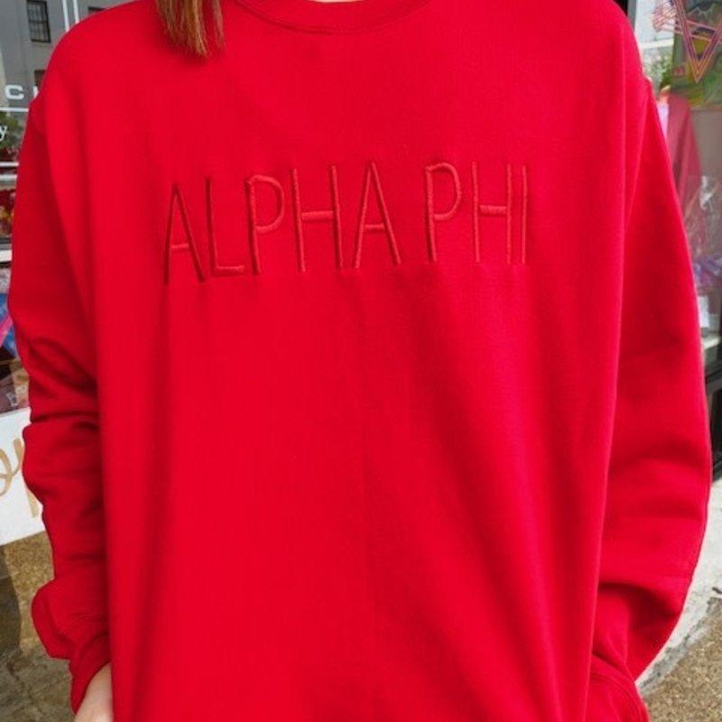 APHI embroidered sweatshirt MEDIUM
