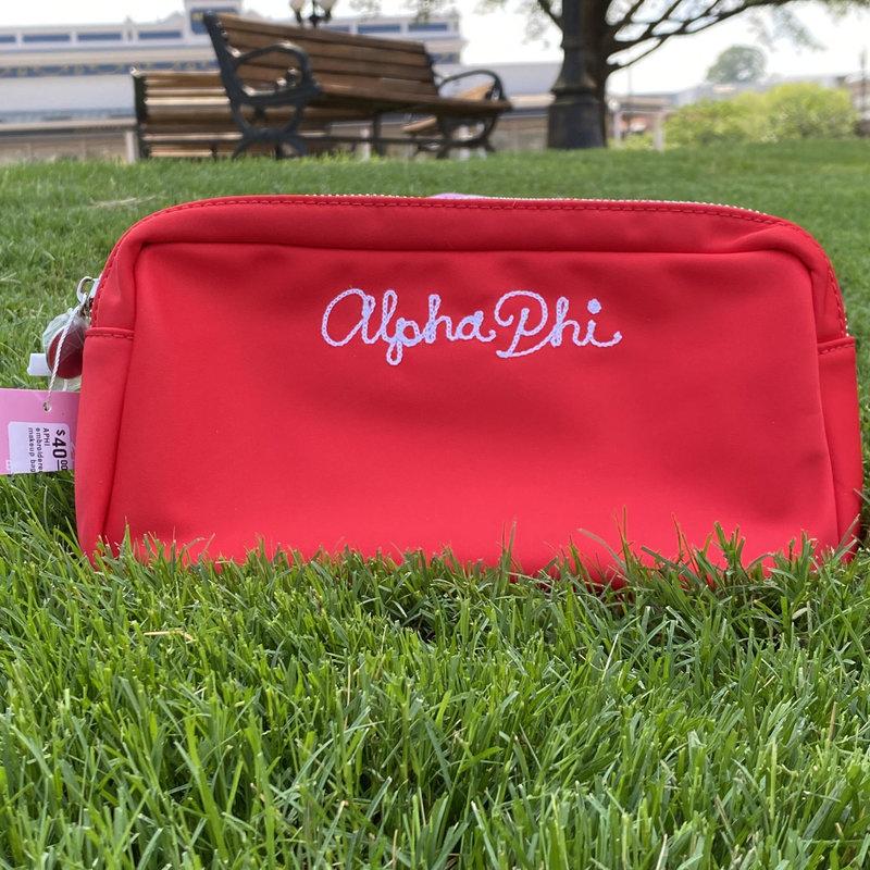 APHI embroidered makeup bag