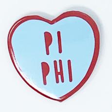Sorority Heart Button