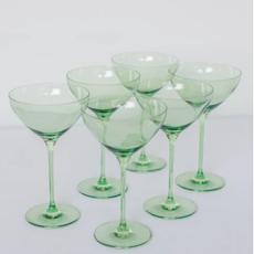 Mint Green Martini Glass
