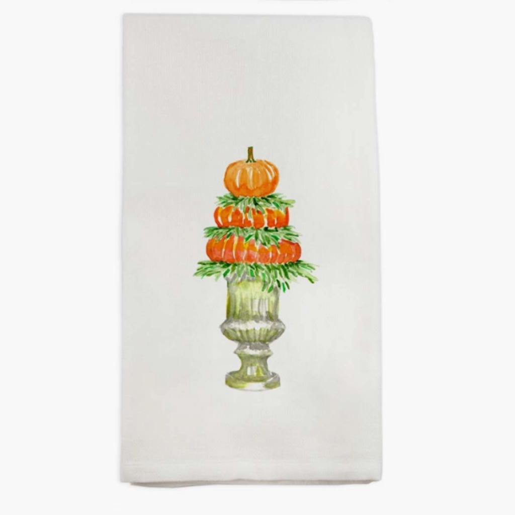 Pumpkin Topiary Dishtowel