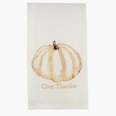 Pumpkin gold Give Thanks Dishtowel