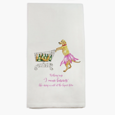 Tucker Shopping with Quote Dishtowel