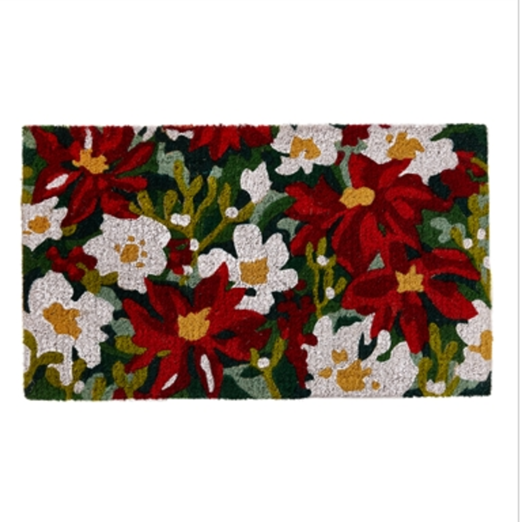 Poinsettia Coir Mat G14684