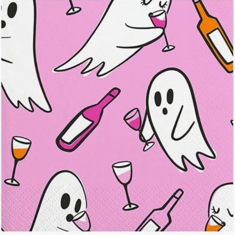 20 ct Ghost Drinking napkins