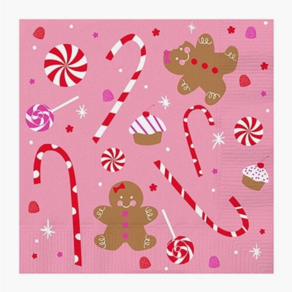 20 ct Gingerbread napkins
