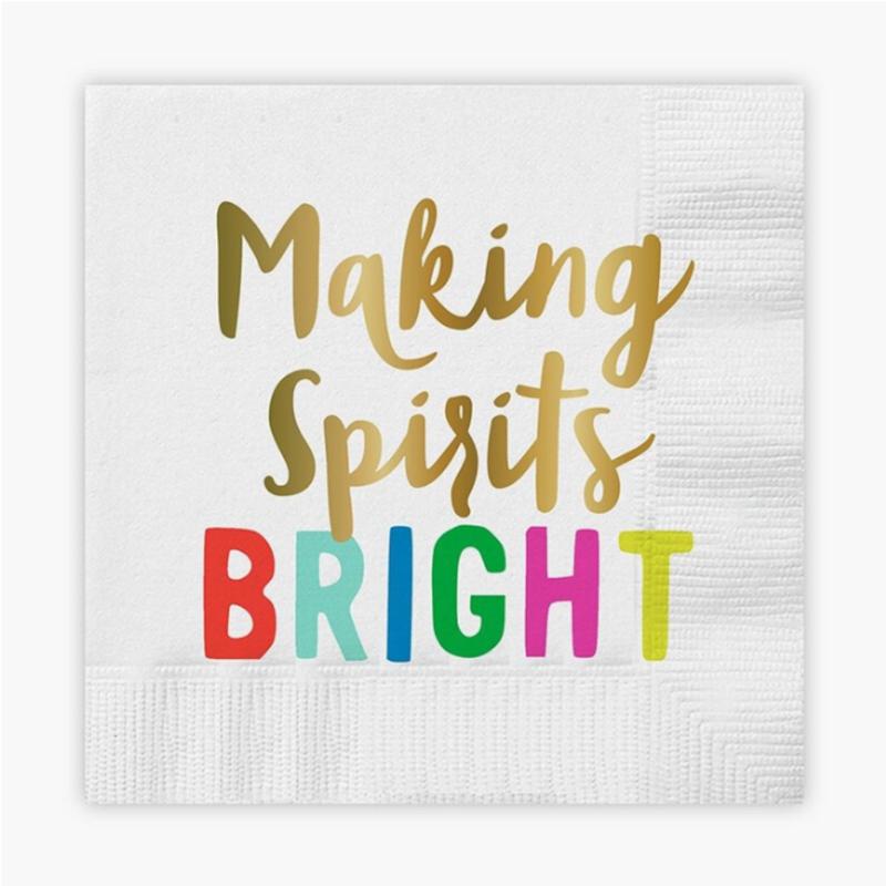 Making Spirits bright napkins