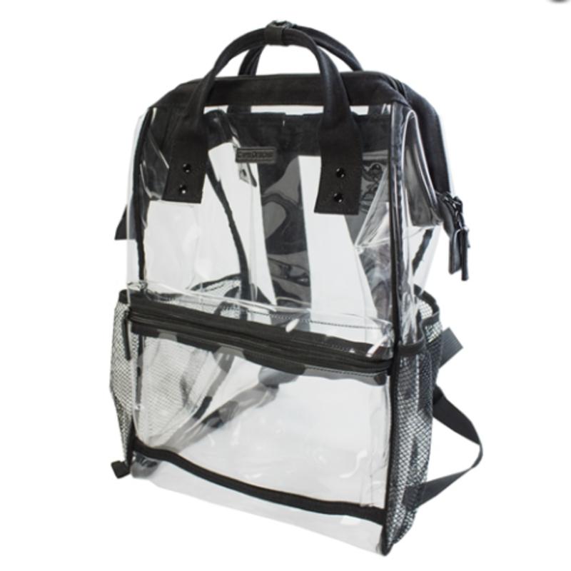 Clear & Black Backpack