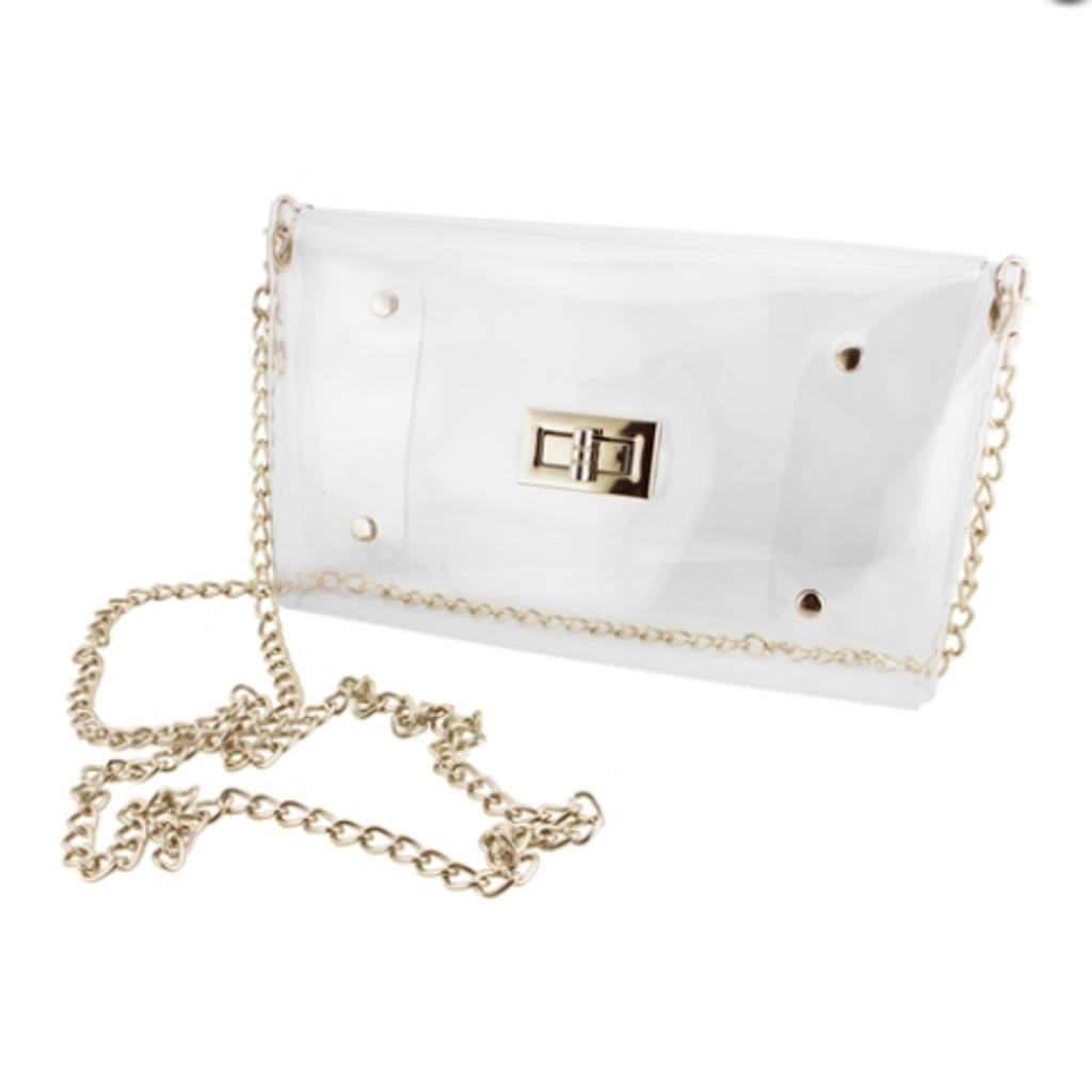 Clear & Gold Envelope Crossbody