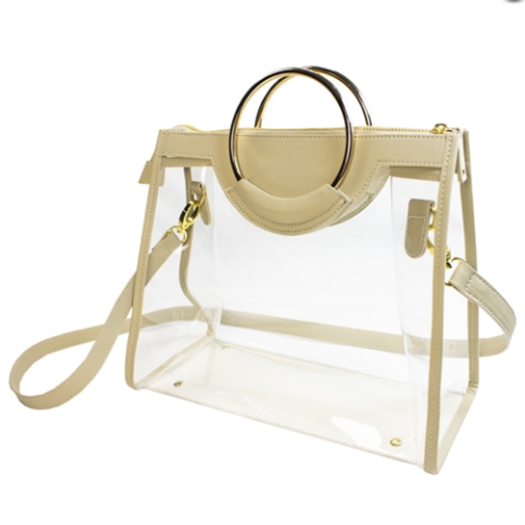 Classic Ring Tote Tan/Clear