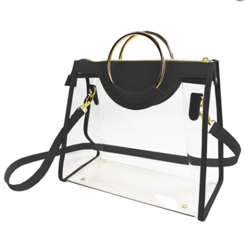 Classic Ring Tote Clear/ Black