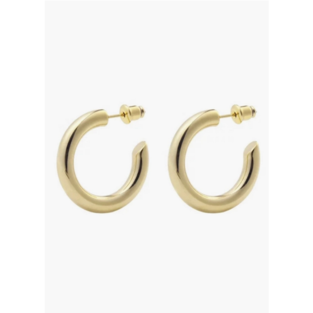 Thick Plain Gold Hoops