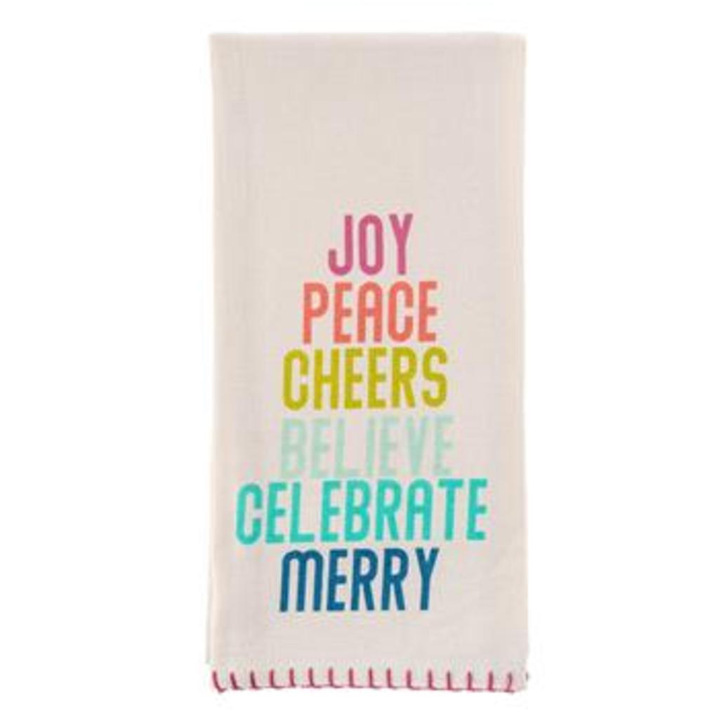 Joy Peach Cheers Tea Towel