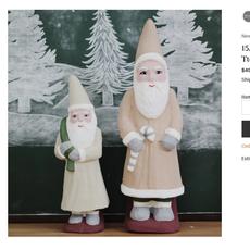 15.5' Vintage Paper Mache Santa