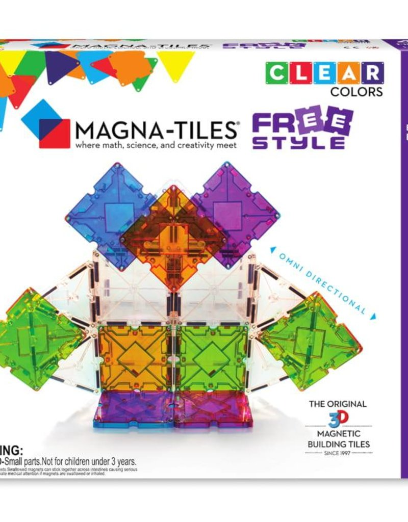 Magna-Tiles FreeStyle 40 Piece Set - size: 9 x 2 x 7.5 inches