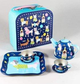 Pets 7pc Tin Tea Set in Case