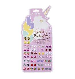 Unicorn Sticker Earrings - Card