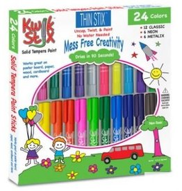 PENCIL GRIP 24PC THIN KWIK STIX TEMPERA PAINT STICKS