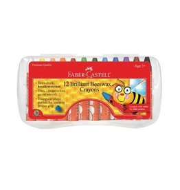 CREATIVITY FOR KIDS 12ct Brilliant Beeswax Crayons in Storage Case