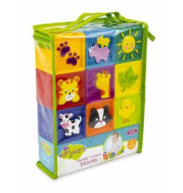 INTERNATIONAL PLAYTHINGS SQUEAK 'N STACK BLOCKS