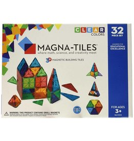 VALTECH MAGNA-TILES Clear Colors 32 Piece Set