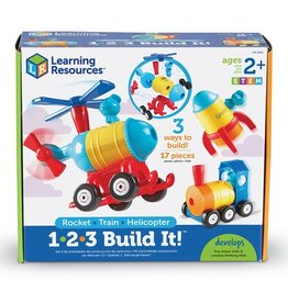 LEARNING RESOURCES 1-2-3 Build It - Train/Rocket/Helicopter