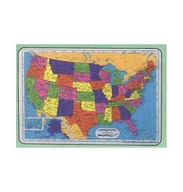 M RUSKIN USA MAP PLACEMAT