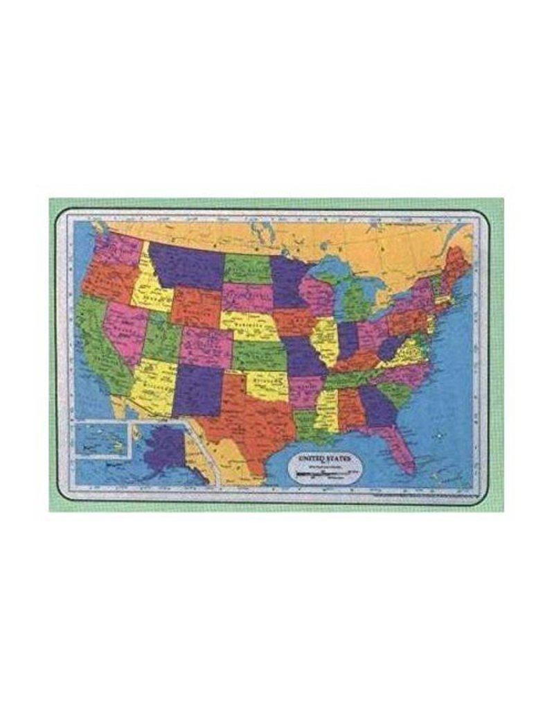 M RUSKIN USA MAP PLACEMAT