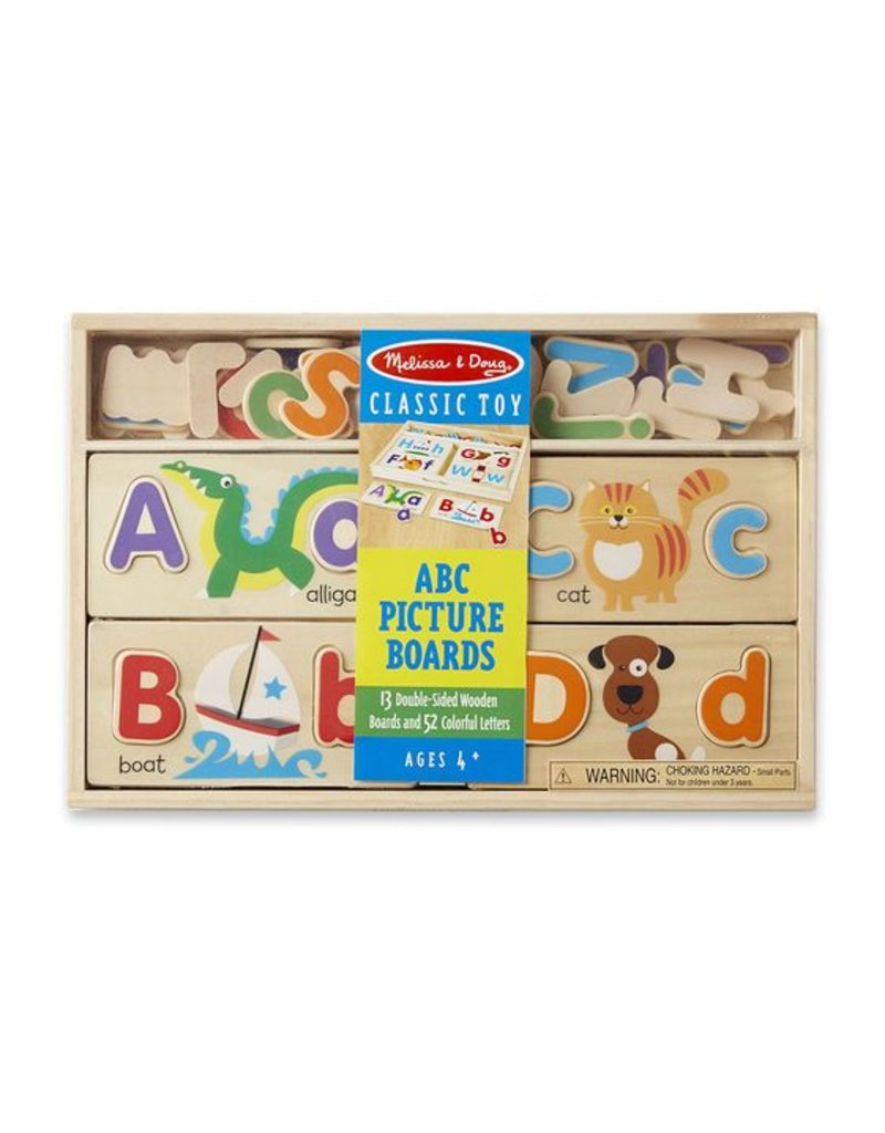 MELISSA & DOUG ABC Picture Boards/ 52 letters