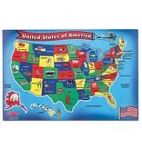 MELISSA & DOUG USA STATE SHAPED PIECES FP