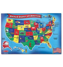 MELISSA & DOUG USA STATE SHAPED PIECES FP