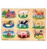 MELISSA & DOUG FARM SOUND PUZZLE 2+
