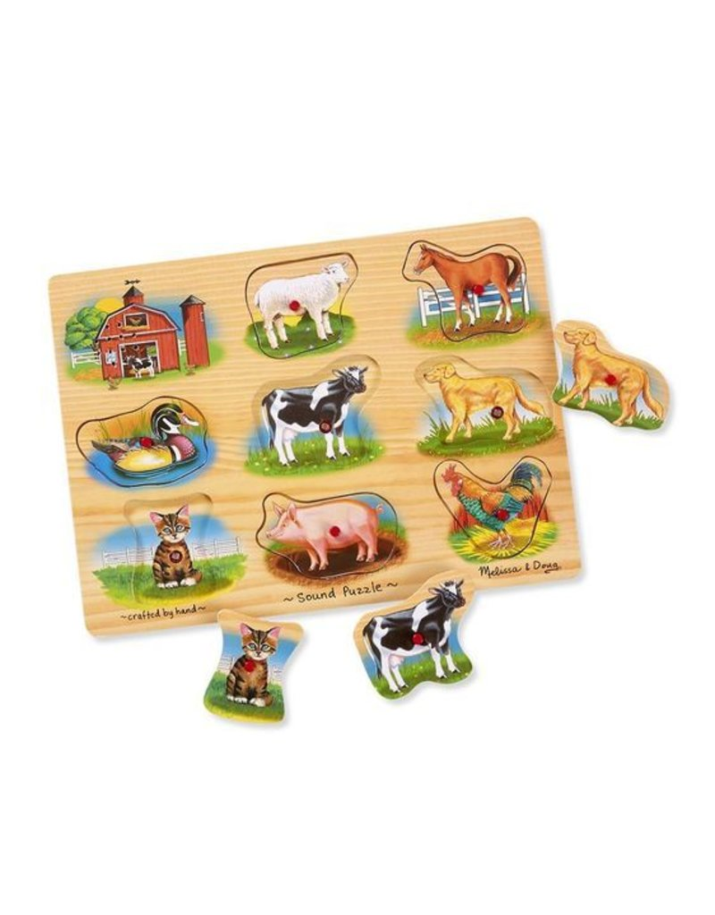 MELISSA & DOUG FARM SOUND PUZZLE 2+
