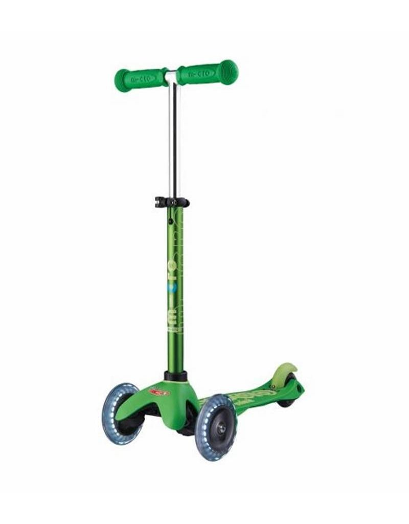 KICKBOARD GREEN LED MINI  SCOOTER